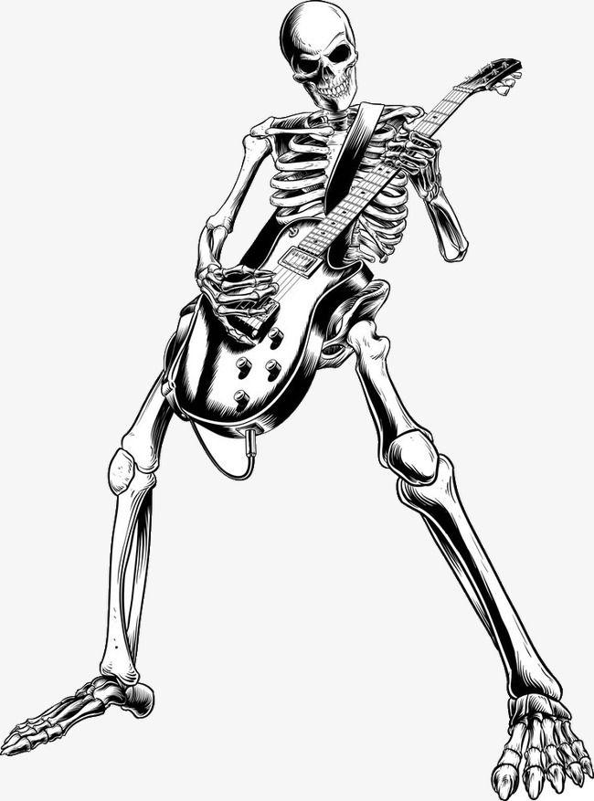 Skull Dancer Guitar Electric Guitar Png Transparent Clipart Image And Psd File For Free Download Hipster Drawings Guitar Illustration Guitar Sketch