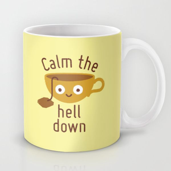 Anxietea by David Olenick as a high quality Mug. Free Worldwide Shipping available at Society6.com from 11/26/14 thru 12/14/14. Just one of millions of products available.