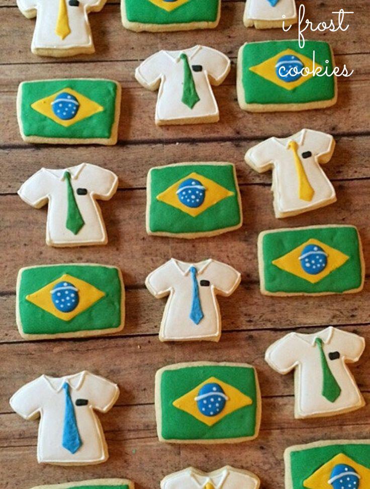 Missionary cookies/ farwell cookies/ homecoming cookies/Brazil cookies