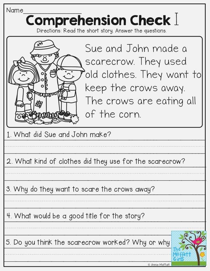 Pin By ŞEMSİNUR On G1 First Grade Reading Comprehension, Reading  Comprehension Worksheets, Reading Comprehension Kindergarten