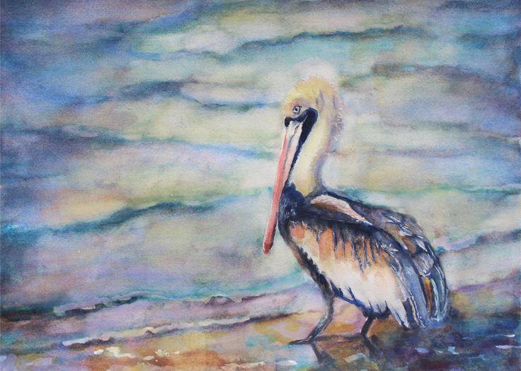 Pelican,Watercolour Painting,Watercolor Painting,Watercolour Art,Watercolor Art,Original Art,Prints,Art For Sale,Bird Art,Ocean Art,16x20 by Lytlebitartisitic on Etsy