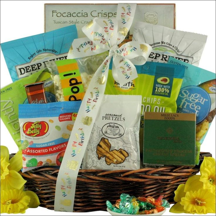 7 best health conscious gift baskets images on pinterest gift sugar free birthday celebration gourmet birthday gift basket negle Image collections