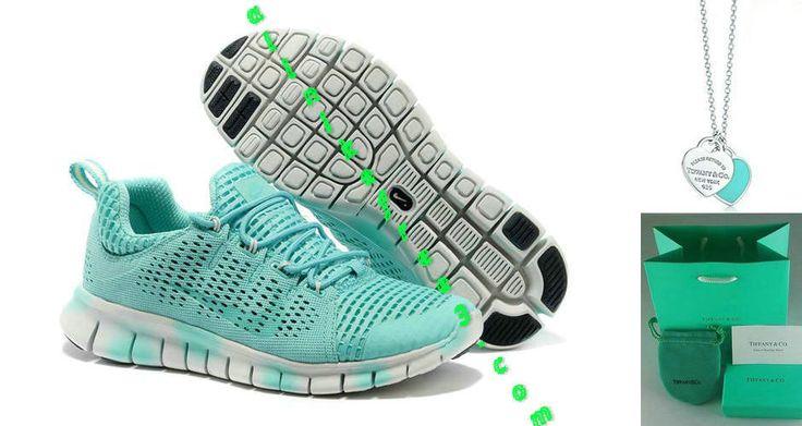 Nike Free Powerline II Womens Tiffany Blue Gradual Change White 555306 301