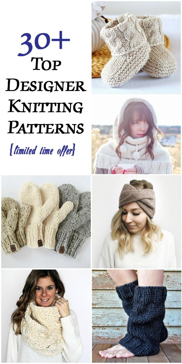 """You get all 30+ """"Weekend Knits"""" knitting patterns worth over $200 for over90% off!"""
