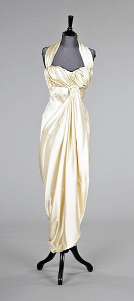 Dress Pierre Balmain, 1950s Kerry Taylor Auctions Reminds me of my Barbie doll wedding dress My sweet grandmother Natalie made,sigh