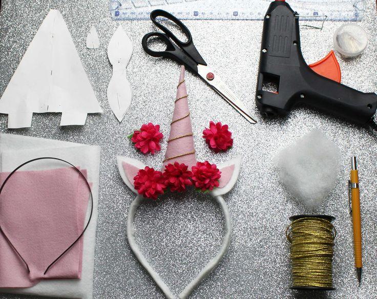 Diy: Tiara de Unicórnio by Rafaela Meneguelli  Aprenda a fazer uma linda tiara de unicórnio SEM COSTURA: https://www.youtube.com/watch?v=5rbxCN462oc   #unicorn #unicornio #tiaradeunicornio #headbandunicorn