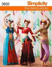 Folkloric, Tribal Belly Dance, Harem Girl Costume Simplicity 3832 Sewing Pattern