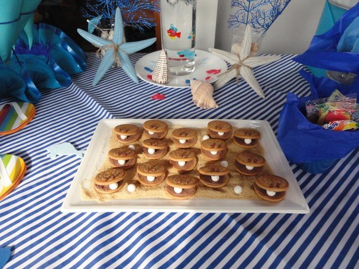 Tween Pool Party - Mother of pearl cookies