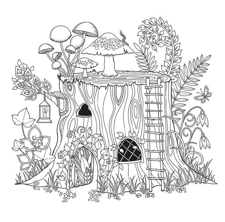 Fairy House Coloring Pages Beautiful 478 Best True Colors Images On Pinterest Cool Coloring Pages Enchanted Forest Coloring Book Basford Coloring Book