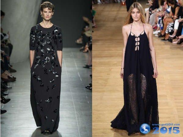 черные вечерние платья 2015