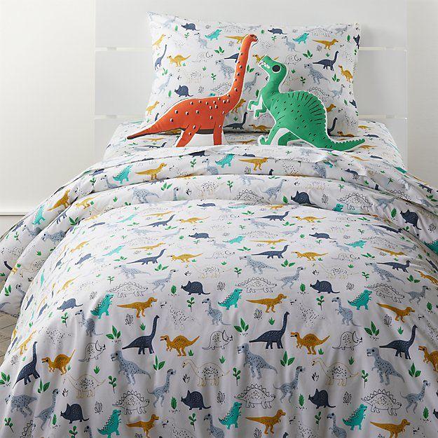 Organic Dinosaur Twin Duvet Cover Dinosaur Bedding Bed Linens