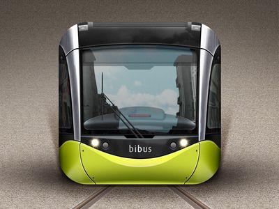 Dribbble - Tramway of Brest iOS Icon by Gwénolé Jaffrédou