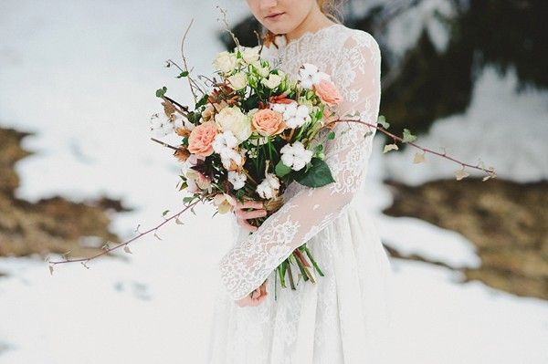 Winter Bridal Inspiration in the Italian Alps
