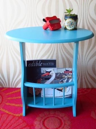 austin adorable vintage aqua end table with storage 60