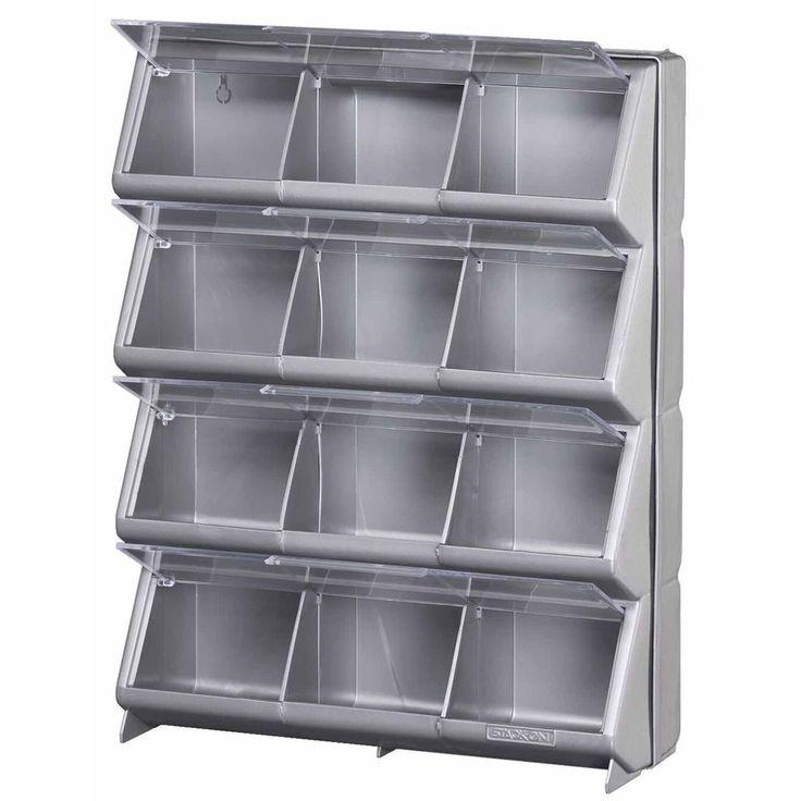 Shop Stack On Resin 12 Bin Storage Organizer At Lowes Com