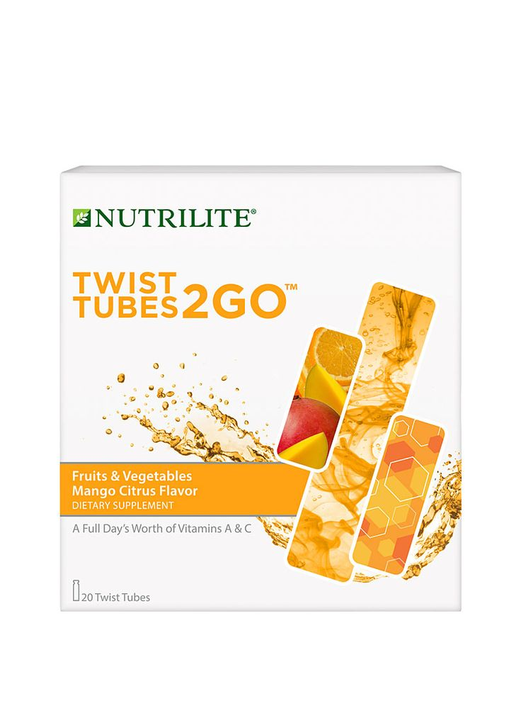 Nutrilite® Twist Tubes 2GO™ – Fruits & Vegetables - Mango Citrus