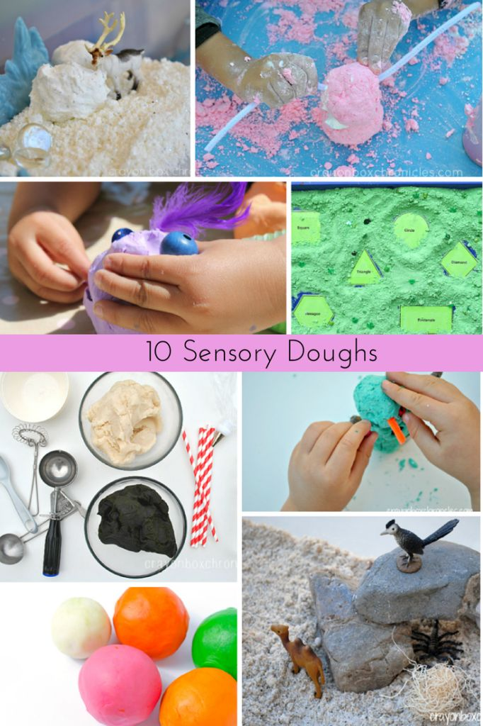 10 sensory doughs for sensory play