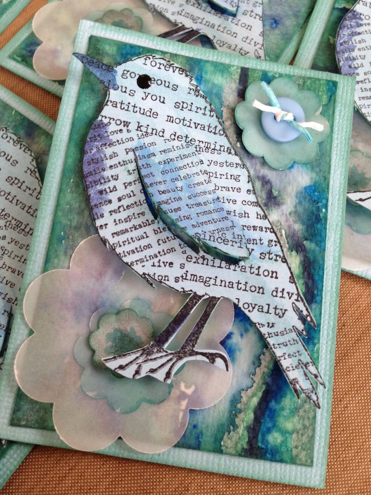 August ATCs for the Southern Stars swap :) Love this bird... is cute in any colour!