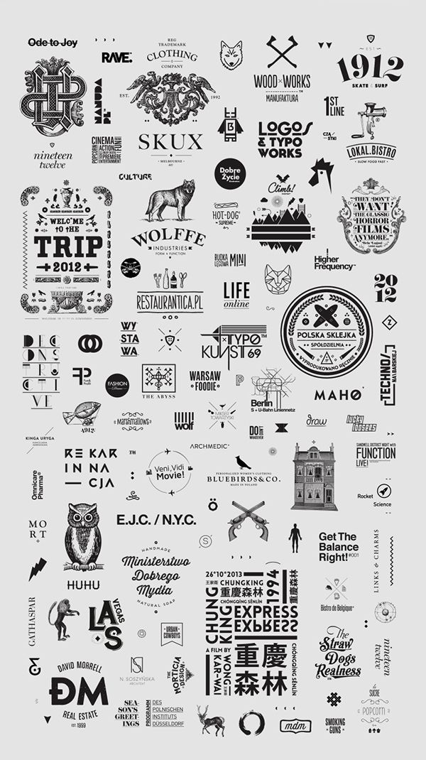 Logos & Typography / 2008-2014 by Zdunkiewicz, via Behance