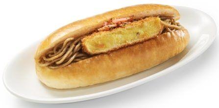 箱根そばコロッケパンHOKUOでコラボメニュー「箱根そばコロッケパン」