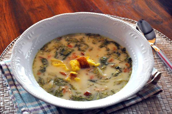 Supa de salata - lettuce soup
