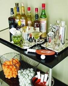 Extra-Dirty Martini - Martha Stewart Recipes: Man Cave, Barcart, Martha Stewart, Bar Carts, Cocktails, Party Ideas, Ping Pong