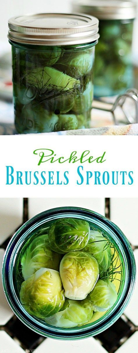 Pickled Brussels Sprouts Recipe I know, I know. Many people don't like Brussel sprouts, but they are great for pickling and canning. Honest. Or you can use this recipe with cucumbers to make homemade pickles.