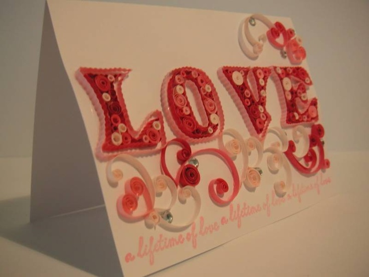 14 best Quilling Valentines images on Pinterest  Cards Crafts
