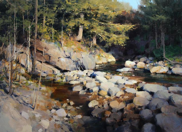 Warm Fall Day by Mark Boedges | Oil | LegacyGallery.com