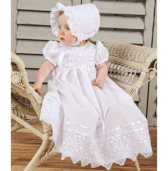 Mary Baby Girl's Discount Christening, Baptism or Blessing Dress-3 Month