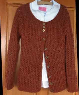Skylark by Kim Hargreaves knitted in Rowan Lima.