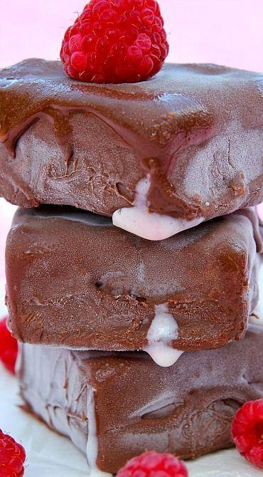 Raspberry Ripple - White Chocolate Coconut Milk Ice Cream Bars & Bites