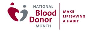 January is National Blood Donor Month! Visit redcrossblood.org to find a blood drive near you and to schedule an appointment!