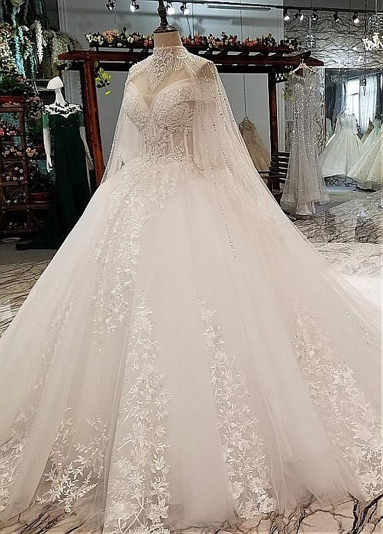[242.40]  Glamorous sequined tulle sweetheart neckline honey dress wedding dresses with pearls & lace appliques
