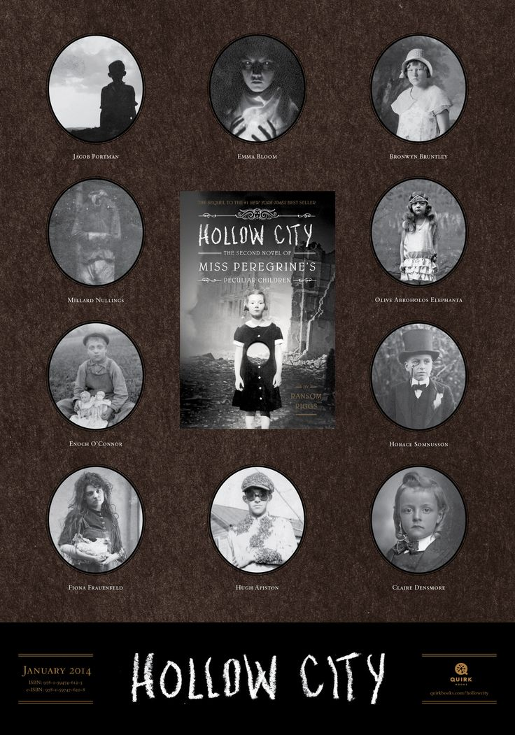 Hollow City by Ransom Riggs tabloid-sized poster #books #education