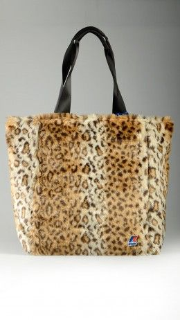 Animal pattern K-peluche large shopper