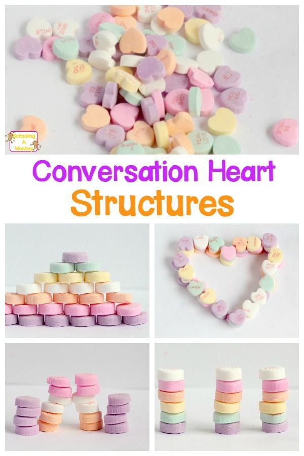 Don't know what to do with your Valentine's Day conversation hearts? Turn them into an engineering project by building conversation heart structures!