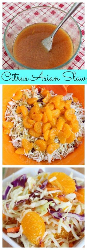 Summer Citrus Asian Coleslaw Recipe #BBQ #recipe