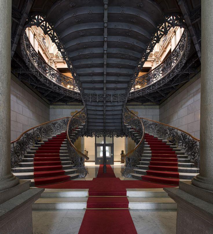staircase at Palácio da Liberdade, Belo Horizonte, Brazil