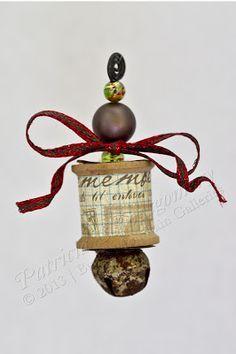 diy wooden spool ornaments - Google Search