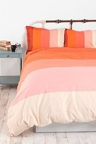 Tonal Stripe Duvet Cover - great idea for the three duvet covers I have, stripe them for a new bedroom set!