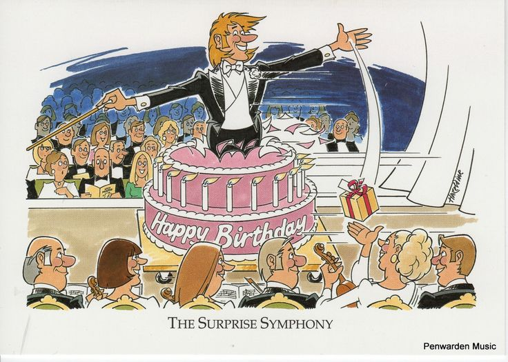 Joan Butler Classics Greeting Card - Surprise Symphony
