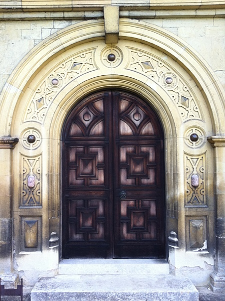 a door at Audley End House, England