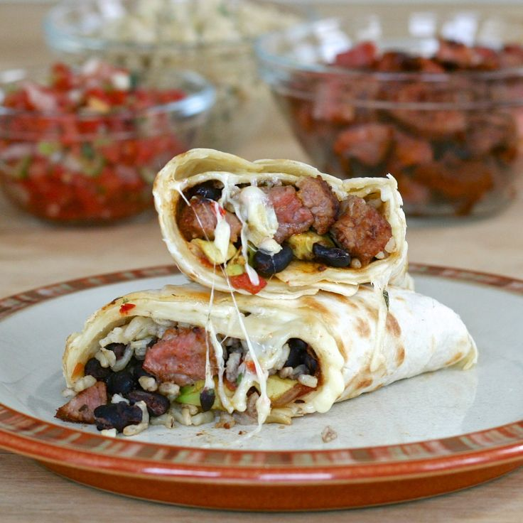 e is for eat: Q is for: Quesarito {with Chipotle copycat steak/chicken & cilantro rice}