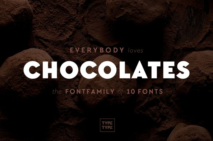 A sweet deal: Chocolates Font Family of 10 Typefaces - only $9!
