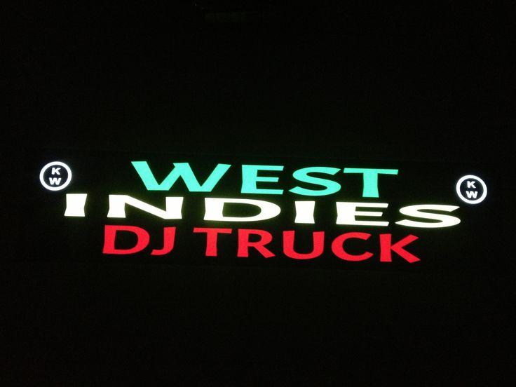 Plaque prénom camion West Indies DJ Truck