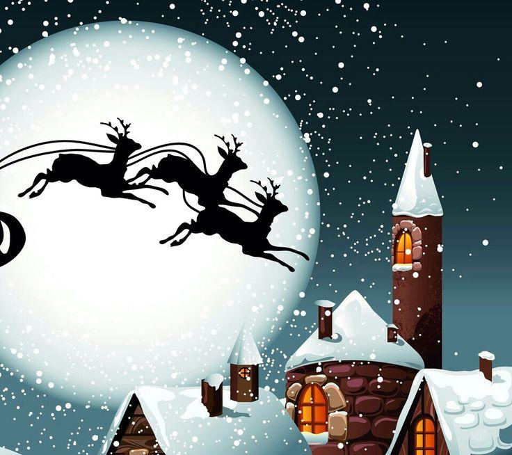 Flying reindeer | Christmas & winter | Pinterest