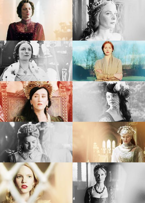 Marguerite d'Anjou,Elizabeth Woodville,Anne Neville,Elizabeth of York,Catherine of Aragon,Anne Boleyn,Jane Seymour,Anne von clèves,Katherine Howard and Catherine Parr