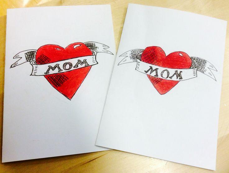 Äitienpäiväkortti #mom #mothersday #sailortattoo