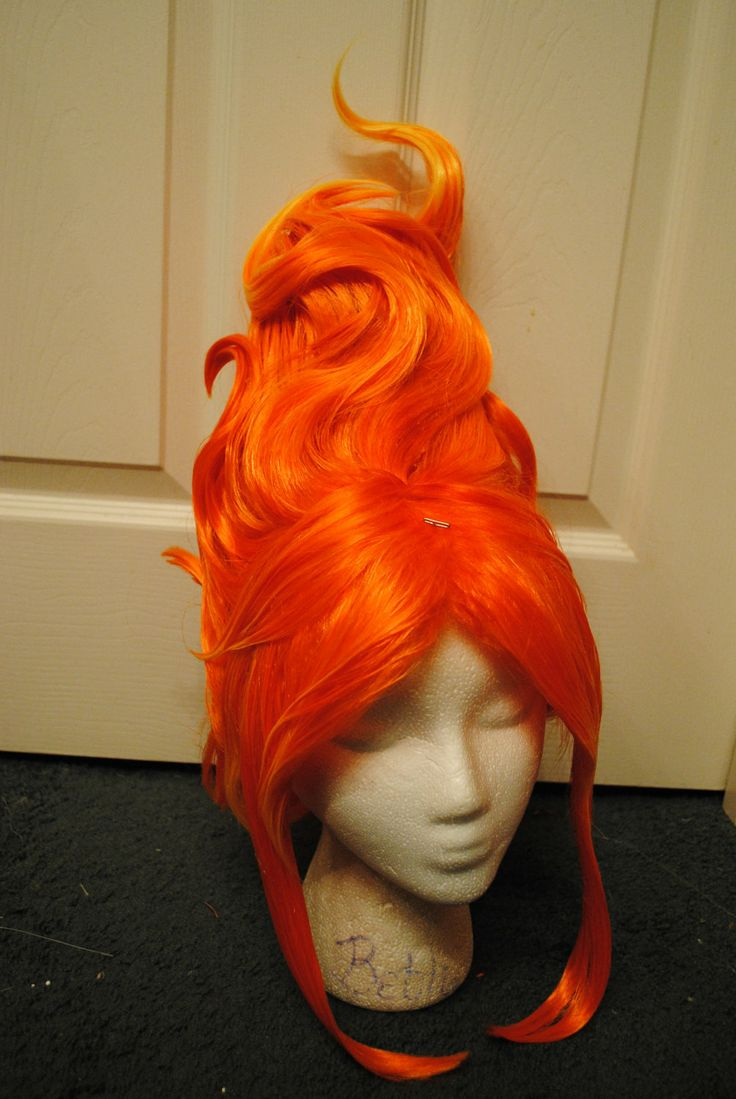 Flame Princess Adventure Time Inspired Cosplay Wig. $175.00, via Etsy.